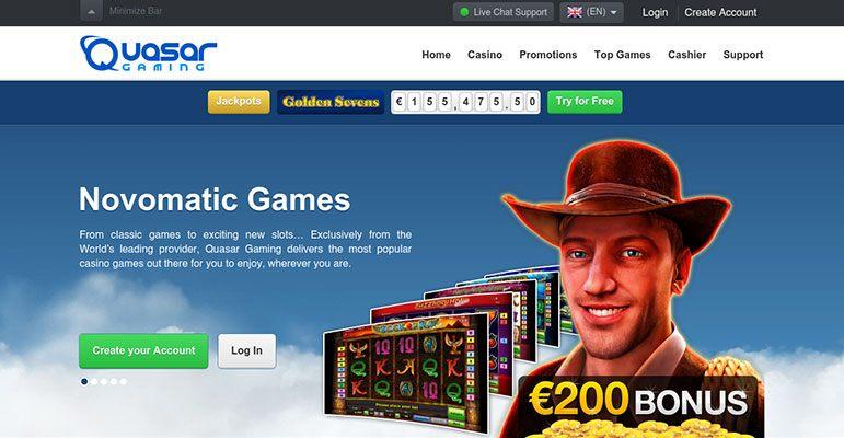 Quasar Gaming No Deposit Code